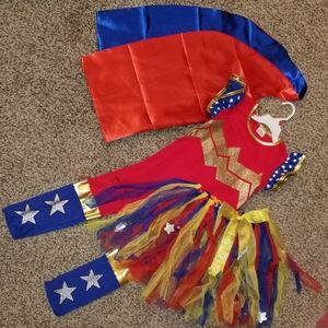 Girls size 7-10 wonder woman boutique costume